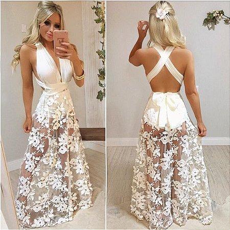 abac5934ea CONJUNTO HOT PANTS COM SAIA DE RENDA K VJQD94GEE - Livia Fashion ...