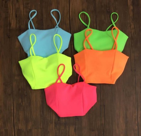 CROPPED NEON CORAL K CH3FNFLYN