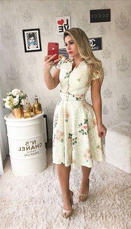 45083429a VESTIDO CREME ESTAMPADO K 99LEPPVP3 - Livia Fashion - Atelier de ...