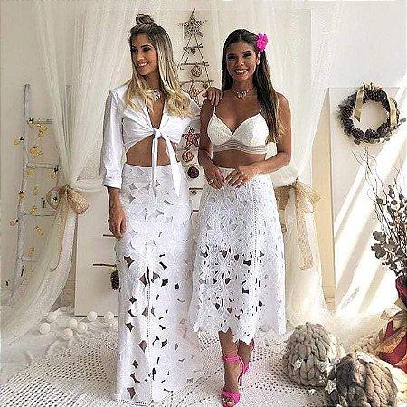 c8f9207c06 SAIA LONGA BRANCA 2UNEWNXRR - Livia Fashion - Atelier de costura ...