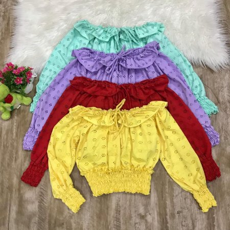 CROPPED OMBRO A OMBRO TRICOT P 2SC2RUCD6 F031