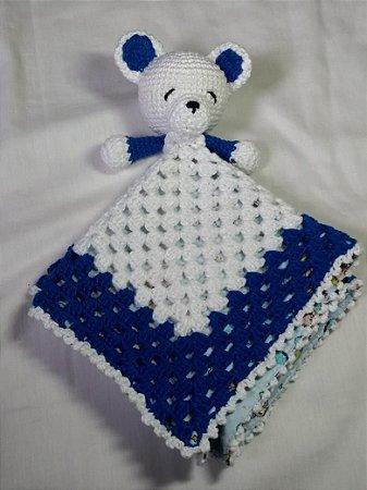 Ursinho De Croche Amigurumi Branco Baby 26cm Toy Art Newborn - R ... | 450x337