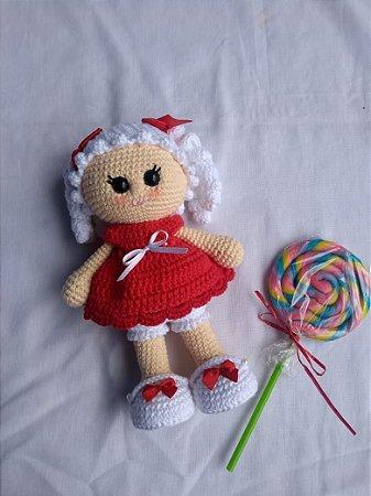Amigurumi de Crochê Boneca Aurora 35 cm | Arquitetas Express | 450x337