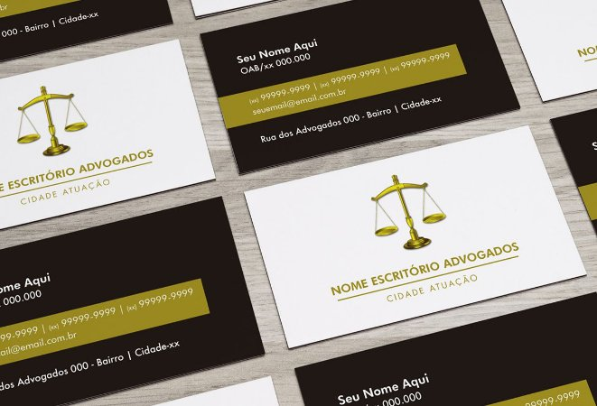 Cartão de Visita Advogado M0003