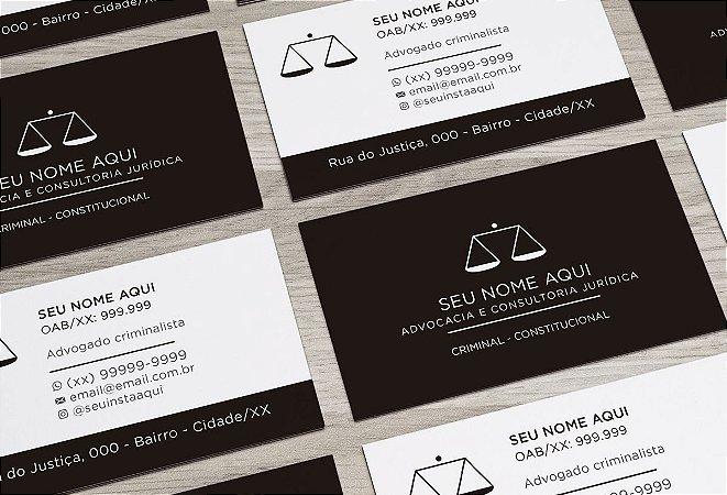 Cartão de Visita Advogado M0018