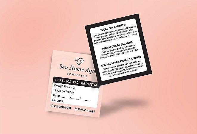 Certificado de Garantia M0001