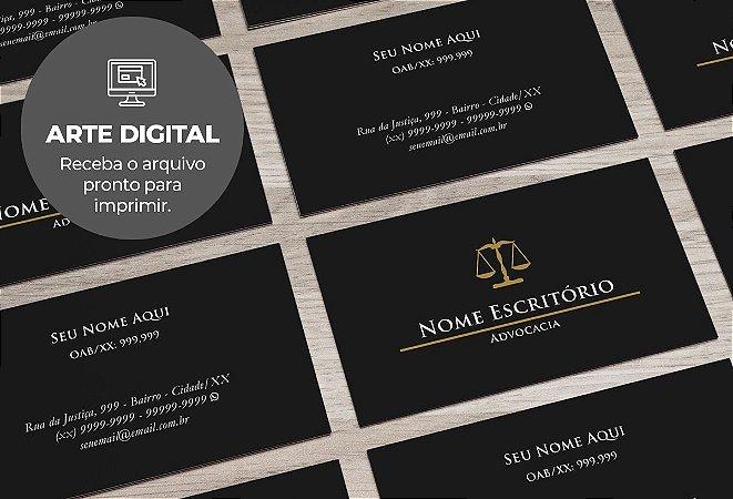Cartão de Visita (somente a arte) Advogado M0002