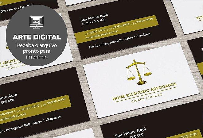 Cartão de Visita (somente a arte) Advogado M0003