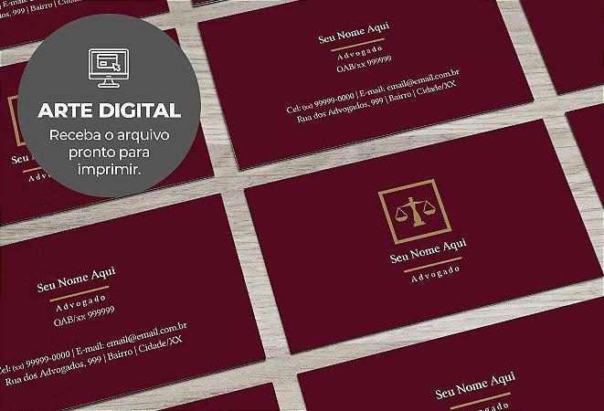 Cartão de Visita (somente a arte) Advogado M0005