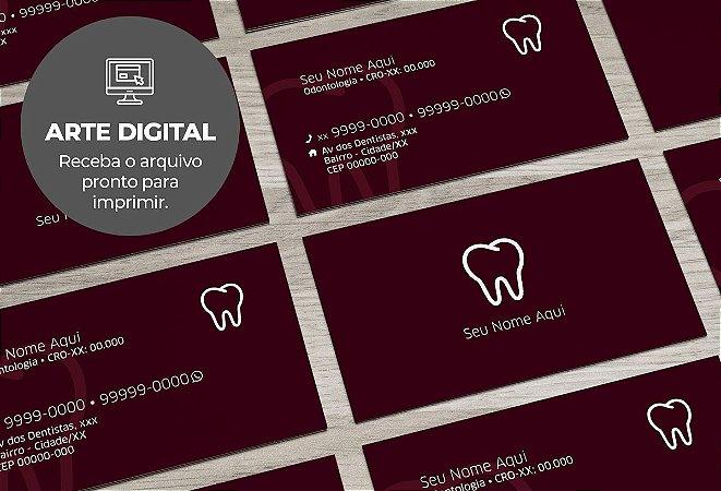 Cartão de Visita (somente a arte) Dentista M0001