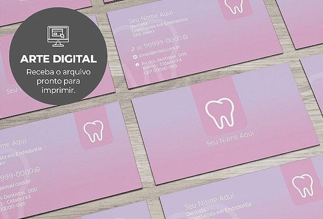 Cartão de Visita (somente a arte) Dentista M0003