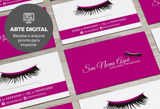 Cartão de Visita (somente a arte) Makeup M0004