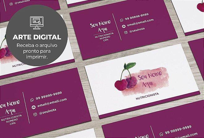 Cartão de Visita (somente a arte) Nutricionista M0003
