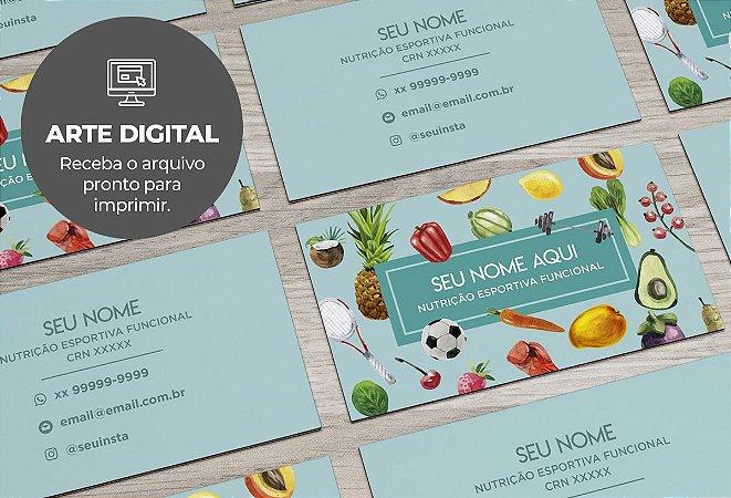 Cartão de Visita (somente a arte) Nutricionista M0004