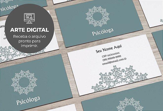 Cartão de Visita (somente a arte) Psicólogo M0005
