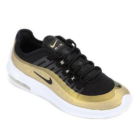 a2594120d5 Tênis Nike Air Max Axis Preto e Dourado - Foot Smile