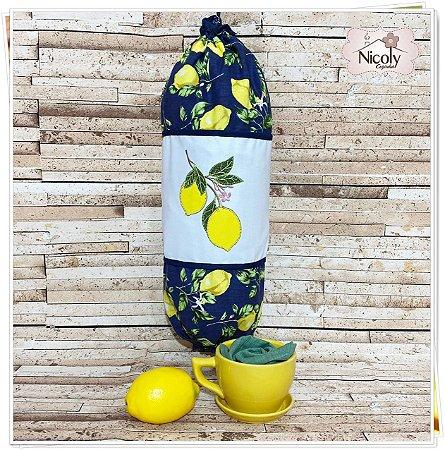 Puxa Saco – Limão Blue, 49cm x 49cm.
