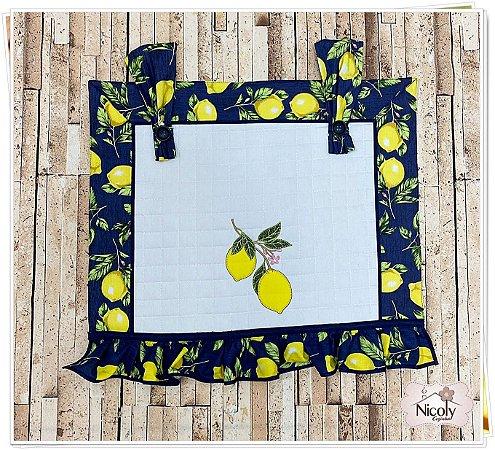 Panô de Forno 6 Bocas – Limão Blue,  55cm x 44cm.
