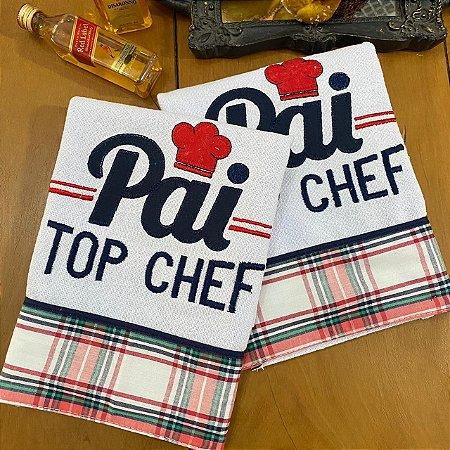 Pano de Prato – Pai Top Chef, 70cm x 44cm.