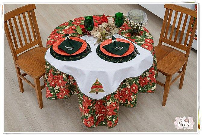 Toalha de Mesa Para 8 cadeiras – Árvore de Natal, 2,50m x 1,40cm.