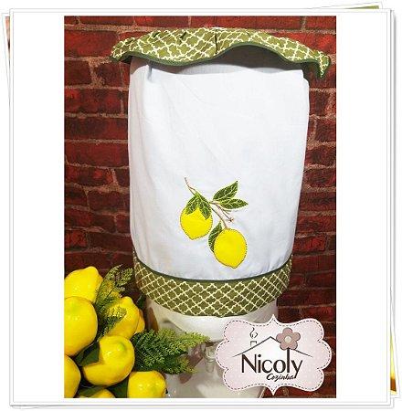 Capa Galão 10 litros – Limão, 27cm x 25cm.