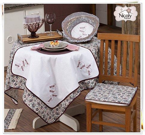 Toalha de Mesa Para 8 Cadeiras – Libelula, 2,50m x 1,40cm.