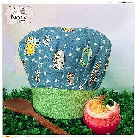 Chapéu Gourmet Infantil - 007, 100% algodão.