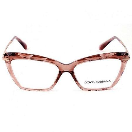 Armação óculos Dolce & Gabbana 5025 504 rosê/dourado