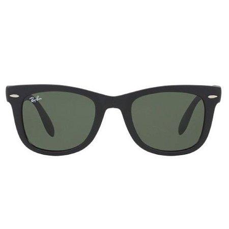 Óculos de Sol Ray-Ban RB4105 Wayfarer Dobrável preto fosco/preto