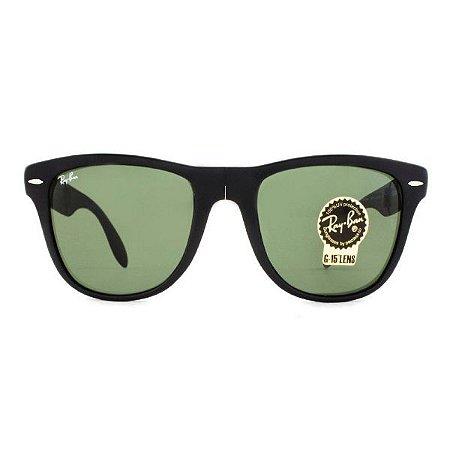 Óculos de Sol Ray-Ban RB4105 Wayfarer Dobrável preto fosco/verde
