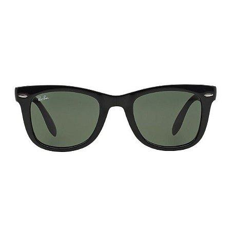 Óculos de Sol Ray-Ban RB4105 Wayfarer Dobrável preto brilhante/preto