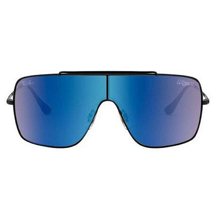 Óculos de Sol Ray-Ban RB3697 Wings II azul espelhado