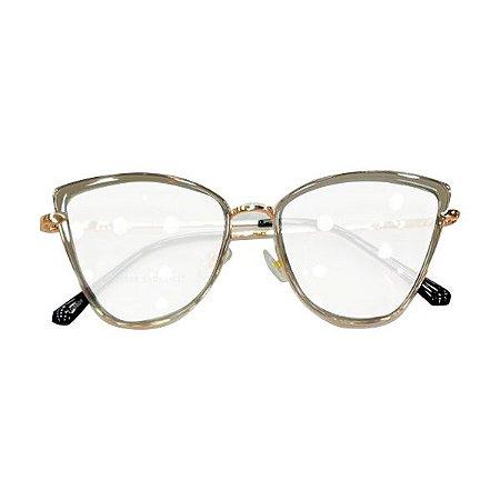 Armação óculos Dior 5508 - cinza cromio