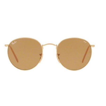 Óculos de Sol Ray-Ban RB3447 Round marrom degrade / dourado