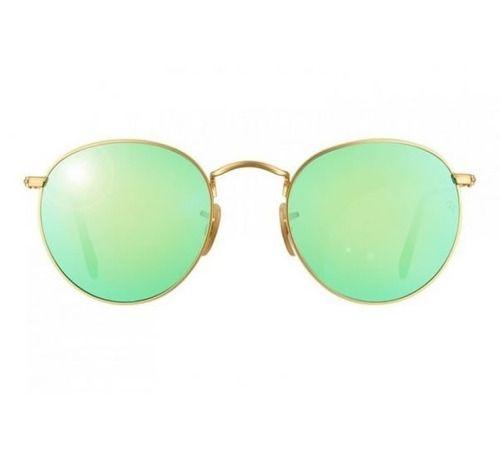 Óculos de Sol Ray-Ban RB3447 Round verde espelhado
