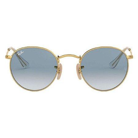 Óculos de Sol Ray-Ban RB3447 Round azul degrade