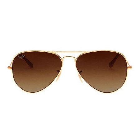 Óculos de Sol Ray-Ban RB3025 Aviador marrom degradê