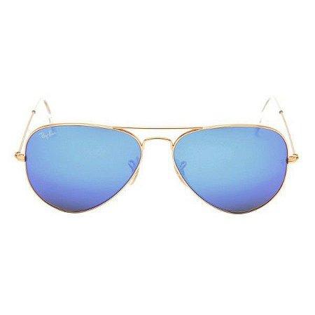 Óculos de Sol Ray-Ban RB3025 Aviador azul espelhado