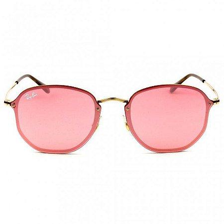 Óculos de Sol Ray-Ban RB3579 Blaze Hexagonal rosa