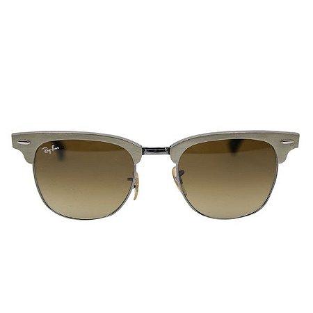Óculos de Sol Ray-Ban RB3507 Clubmaster alumínio dourado