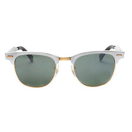Óculos de Sol Ray-Ban RB3507 Clubmaster alumínio prata