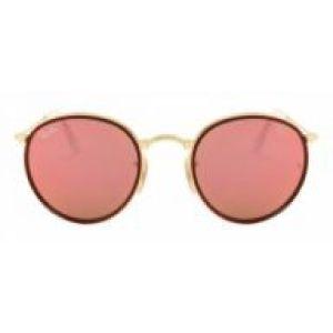 Óculos de Sol Ray-Ban RB3517 Round dobrável rosa espelhado