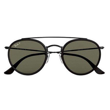 Óculos de Sol Ray-Ban RB3647 Round Double Bridge preto