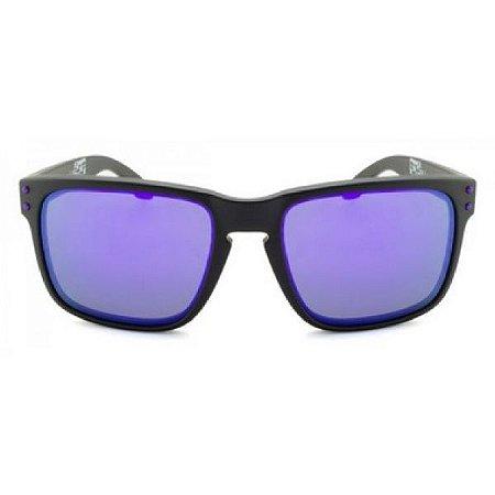 Óculos de Sol Oakley Holbrook Julian Wilson roxo espelhado - polarizado