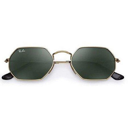 Óculos de Sol Ray-Ban RB3556 Octagonal verde / dourado