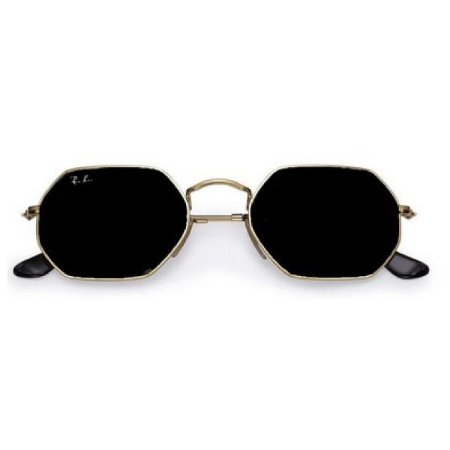 Óculos de Sol Ray-Ban RB3556 Octagonal  preto / dourado