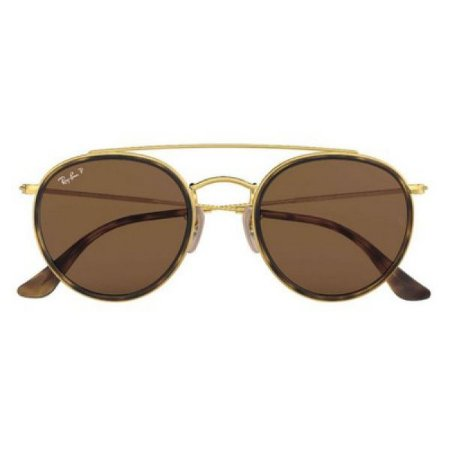 Óculos de Sol Ray-Ban RB3647 Round Double Bridge marrom