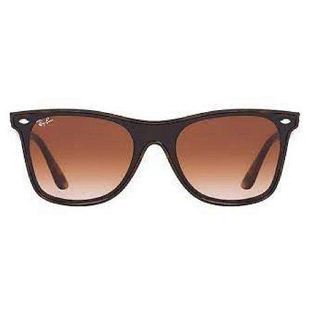 Óculos de Sol Ray-Ban RB4440 Blaze Wayfarer - marrom transparente