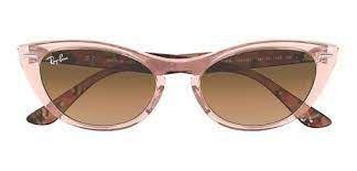 Óculos de Sol Ray-Ban Nina Kraviz - rosa transparente / marrom