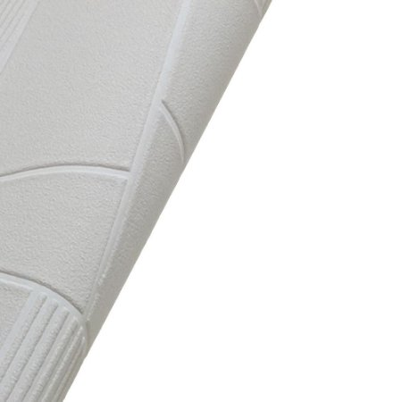 Papel de Parede 3D Alto Relevo Branco Rolo de 53x1000cm